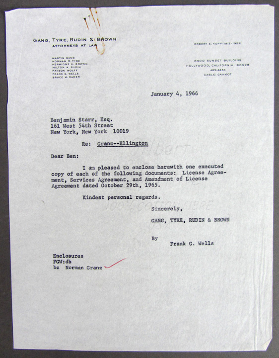 JazzFirst Books – Signed Cover Letter